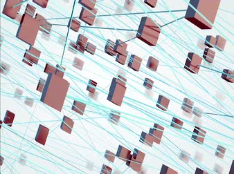 Network concept.3D illustration of network concept.Business and global communication.Team and corporate internet networking
