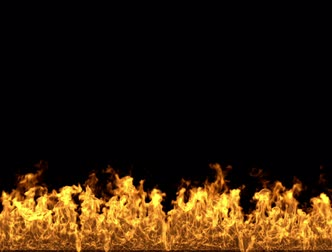 Fireplace and barbecue.3d rendering fire and flames over black background. Стоковые видеозаписи