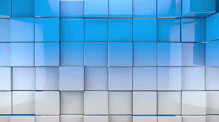 tiles cubes background.Abstract image of cubes background in blue toned