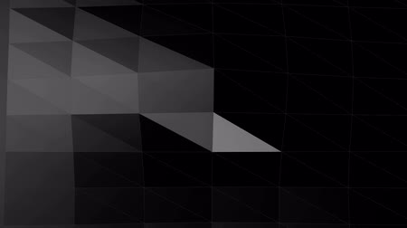 Wave geometric shape backdrop.Abstract background low poly wave motion Stock Footage