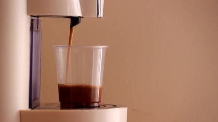 caffe : Home expresso machine taking coffee
