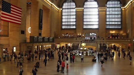 united states : Grand Central Station in New York City Stock Footage