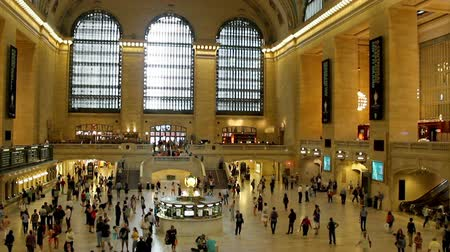 központi : Grand Central Station in New York City Stock mozgókép