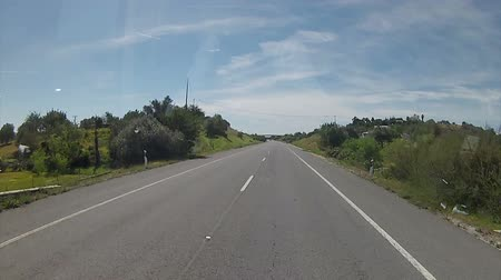автобус : Algarve A22 road acess, Bus Travel frontal camera point of View