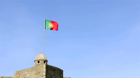 portugalsko : Portugal Flag waving in the wind