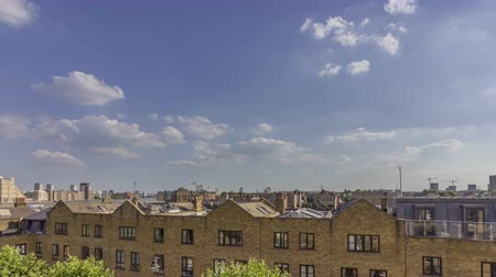 docklands : London city riverside cloudscape timelapse