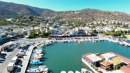 elounda : Bay in Elounda city, Greece