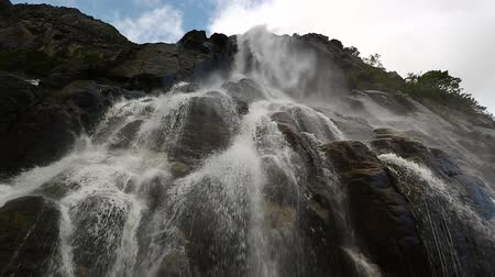 Hengjanefossen waterfall in Lysefjord of Norway Dostupné videozáznamy