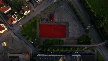 Top view of the stadium in residential district of Stavanger, Norway