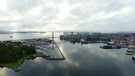 Morning cityscape of Stavanger, top view