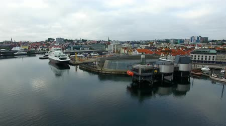 Aerial view of the Norwegian Petroleum Museum, located on the bank of Stavanger