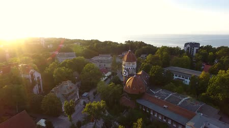 baltské moře : Top view of the Water Tower of Svetlogorsk in sunset
