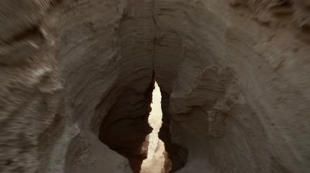 crevice : crevice in desert moonscape
