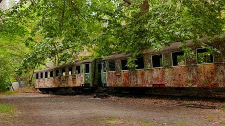 více barevné : Old Abandoned and Derelict Train Carriage. A great piece of stock in 4k definition, perfect for film, tv, documentaries, reality TV, trailers, infomercials and more! Dostupné videozáznamy