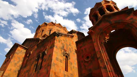 inspiradora : Old Orange Monastry with Background Clouds.