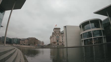 bundestag : The Reichstag Building And The Paul Loebe House At River Spree In Berlin, Germany In Winter