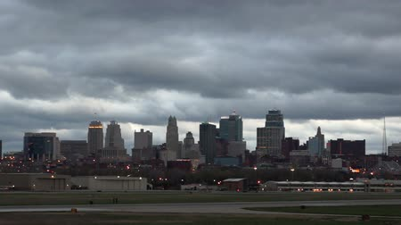Kansas City Missouri Skyline Storm Overhead
