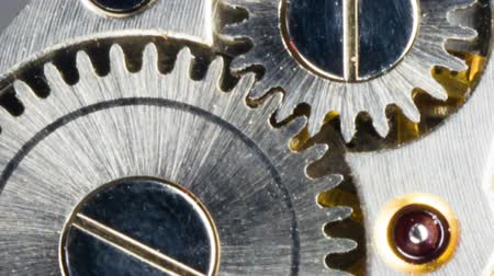 horas : Vintage Watch Pocketwatch Time Piece Movement Gears Cogs Stock Footage