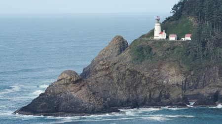 крайняя местности : Heceta Head Oregon Coast Lighthouse Nautical Beacon USA