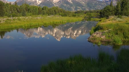 grand tetons : Mountains Reflected Smooth Water Grand Teton National Park