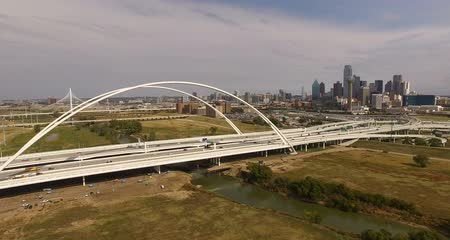 маргарита : Bridge over Trinity River Downtown Dallas Texas Urban City Infrastructure Architecture