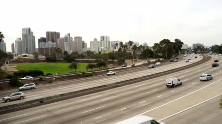 finest : Commuters in Cars Travel Interstate 5 Through San Diego
