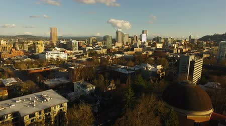 pacífico : Downtown City Skyline Portland Oregon West Side Aerial