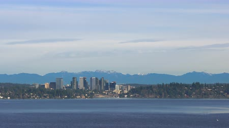 cityskyline : Lake Washington Bellevue Downtown City Skyline North Cascade Mountains