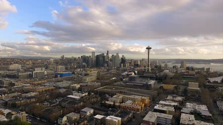 aguja : Queen Anne Hill Seattle Washington Downtown City Skyline
