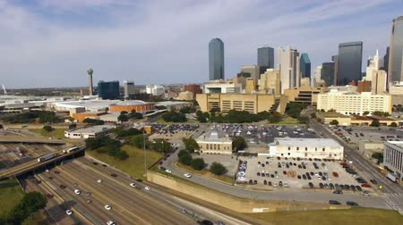 Downtown Dallas Texas City Skyline South United States Noord-Amerika Stockvideo