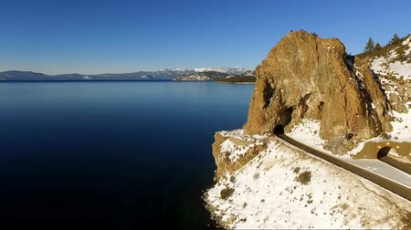 Luchtfoto Tall Butte Highway Tunnel Lake Tahoe