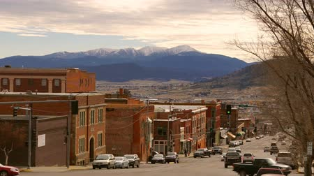 Granite Drive Traffic Butte Montana Downtown United States