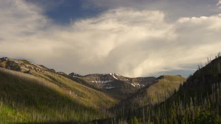 Wind and Weather Pass Over Mountains and Valleys of Yellowstone
