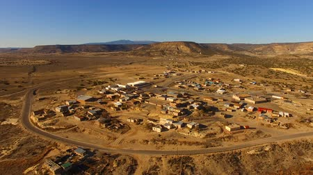native american culture : Aerial View North to Mesita New Mexico Train Passing