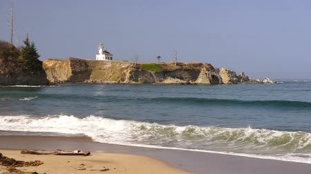 faro : Cape Arago Oregon Coast Landscape Gregory Point Surf en la playa