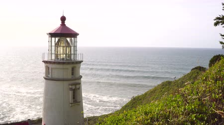крайняя местности : Heceta Head From the Hill Oregon Coast Lighthouse Nautical Beacon USA