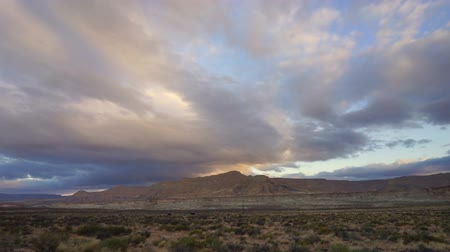 A Wide Composition of Clouds High in the Atmosphere over Utah Landscape