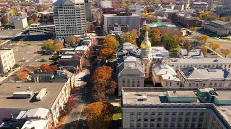 new jersey : Aerial View Over the State Capitol Building Trenton New Jersey Downtown City Skyline