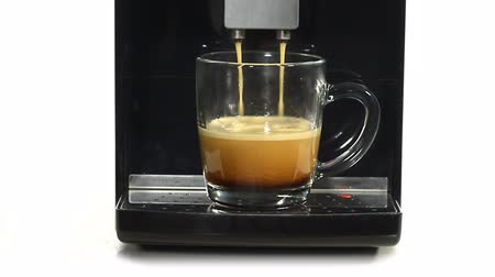 black coffee : coffee machine at work