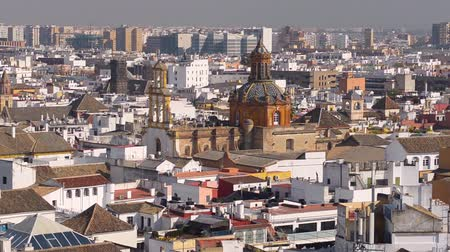 Андалусия : Seville city skyline at winter sunny day, Andalusia, Spain