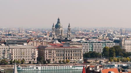 st stephen : Budapest city view and St. Stephens Basilica. City skyline, Danube river, Hungary