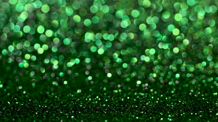 highlights : Green Christmas or New Year festive background