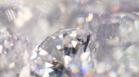 faceta : Group of diamonds rotating, macro 4k