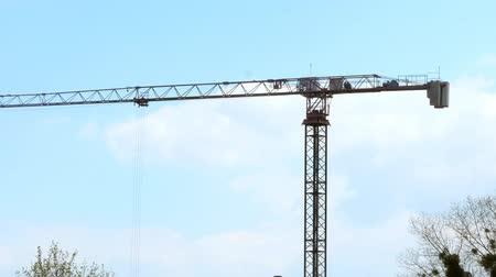 vinç : Working tower cranes, buildings