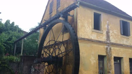 farm in brazil : A German immigrants home complete with water wheel in the southern state of Rio Grande do Sul in Brazil.