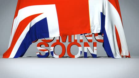 Войти : Uk Flag lifts to reveal Coming Soon text