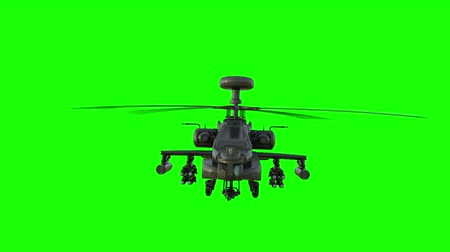 katonai : Military helicopter  realistic 3d animation. Realistic reflections, shadows and motion. Green screen
