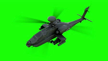 letadlo : Military helicopter  realistic 3d animation. Realistic reflections, shadows and motion. Green screen