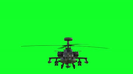 força : Military helicopter  realistic 3d animation. Realistic reflections, shadows and motion. Green screen