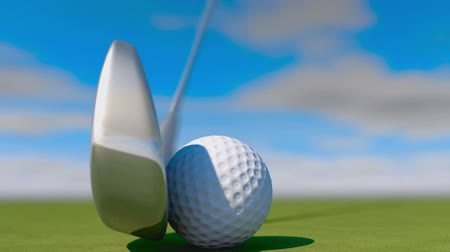 поле для гольфа : Golf. Animation of golf ball Стоковые видеозаписи